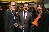 From left are Steven Skiba of Shakespeares, James Bird of Distinction and Lucy Mills of Potter Clarkson