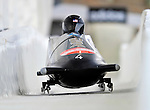 17 December 2010:  Shauna Rohbock pilots her 2-man bobsled for the USA, finishing 2nd for the day at the Viessmann FIBT World Cup Bobsled Championships in Lake Placid, New York, USA. The event was a Make-up Race from the previous week at Park City where the Women's Bobsled had to be cancelled due to severe snow conditions. Mandatory Credit: Ed Wolfstein Photo