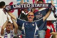 "USA fan, self-proclaimed ""Soccerhead."" The USA tied South Korea, 1-1, during the FIFA World Cup 2002 in Daegu, Korea."