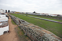 Roman Circus, built at the beginning of the 1st Century AD; Wide steps for 30?000 spectators; Width 115 meters; Length 440 meters, Merida (Augusta Emerita, Capital of Hispania Ulterior), Extremadura, Spain