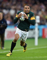 Bryan Habana of South Africa in possession. Rugby World Cup Pool B match between South Africa and the USA on October 7, 2015 at The Stadium, Queen Elizabeth Olympic Park in London, England. Photo by: Patrick Khachfe / Onside Images