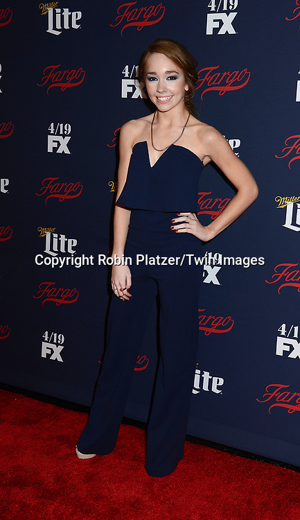 Holly Taylor attends FX's 2017 All-Star Upfront on  April 6, 2017 at SVA Theater in New York, New York, USA. <br /> <br /> photo by Robin Platzer/Twin Images<br />  <br /> phone number 212-935-0770