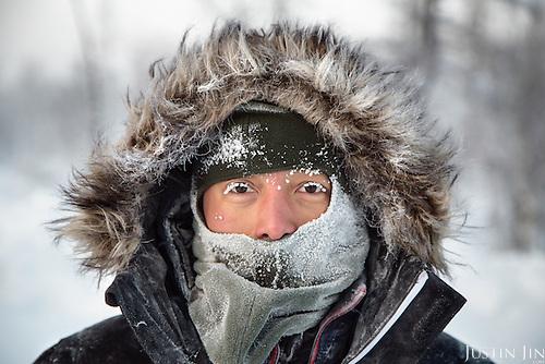 Photographer Justin Jin in Novy Urengoi, Arctic Siberia, Russia, in -42C.