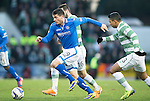 St Johnstone v Celtic.....26.12.13   SPFL<br /> Gary Miller closed down by Emilio Izaguirre and Joe Ledley<br /> Picture by Graeme Hart.<br /> Copyright Perthshire Picture Agency<br /> Tel: 01738 623350  Mobile: 07990 594431
