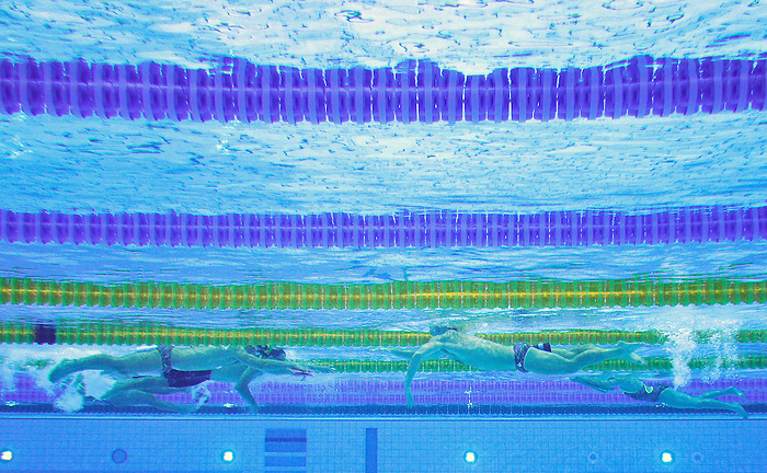 LONDON, ENGLAND – 08/24/2012: The Canadian Swim Team during a training session at the London 2012 Paralympic Games at The Aquatic Centre. (Photo by Matthew Murnaghan/Canadian Paralympic Committee)