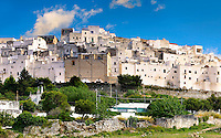 The white city of Ostuni, Puglia, South Italy.
