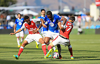 San Jose, CA - Thursday July 28, 2016: Didier Drogba, Krystian Bielik during a Major League Soccer All-Star Game match between MLS All-Stars and Arsenal FC at Avaya Stadium.