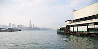 View from the Star Ferry (Wan Chai pier) across the harbour to Kowloon