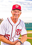 28 February 2016: Washington Nationals Bench Coach Chris Speier poses for his Spring Training Photo-Day portrait at Space Coast Stadium in Viera, Florida. Mandatory Credit: Ed Wolfstein Photo *** RAW (NEF) Image File Available ***
