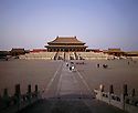 BB01677-03...CHINA - Hall of Supreme Harmony in the center of a large square at  the Forbidden City in Beijing.