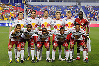New York Red Bulls starting eleven. The Columbus Crew defeated the New York Red Bulls 3-1 during a Major League Soccer (MLS) match at Red Bull Arena in Harrison, NJ, on May 20, 2010.