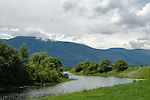 Clouds over the Selkirk mountains in the Kootenai valley