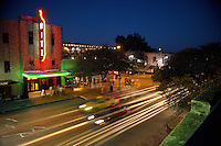 The Ritz is a historic theater in the 6th Street district in Austin, Texas. The building's history includes use as a movie theater, music hall, club, and comedy house. It reopened after renovations in fall 2007 as the new downtown location for the Alamo Drafthouse.
