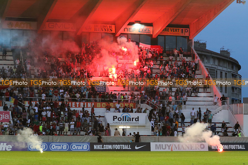 Flares were thrown on the pitch during the second half  - France Under-20 vs Morocco Under-20 - 2015 Toulon Tournament Final Football at Stade Mayol, Toulon, France - 07/06/15 - MANDATORY CREDIT: Paul Dennis/TGSPHOTO - Self billing applies where appropriate - contact@tgsphoto.co.uk - NO UNPAID USE