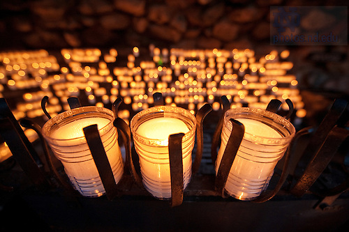 Candles in the Grotto...Photo by Matt Cashore/University of Notre Dame
