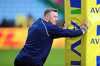 Josh Charnley of Sale Sharks looks on during the pre-match warm-up. Aviva Premiership match, between Harlequins and Sale Sharks on January 7, 2017 at the Twickenham Stoop in London, England. Photo by: Patrick Khachfe / JMP