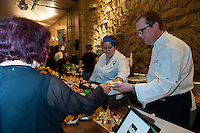 Chef Jeff Dueck (Frank at the AGO) serves up Vegan Fava Purée, with Sunchokes and Winter Vegetables at FoodShare Toronto's Recipe for Change, February 28,  2013