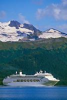 Princess Tours cruise ship, Prince William Sound, Alaska.