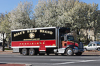 A Boar's Head Brand delivery truck on its route in White Plains, New York