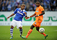 FUSSBALL   1. BUNDESLIGA   SAISON 2011/2012    11. SPIELTAG FC Schalke 04 - 1899 Hoffenheim                            29.10.2011 Jefferson FARFABN (li, Schalke) gegen Chinedu OBASI (re, Hoffenheim)