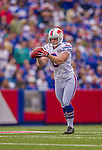14 September 2014: Buffalo Bills punter Colton Schmidt sets to kick to the Miami Dolphins at Ralph Wilson Stadium in Orchard Park, NY. The Bills defeated the Dolphins 29-10 to win their home opener and start the season with a 2-0 record. Mandatory Credit: Ed Wolfstein Photo *** RAW (NEF) Image File Available ***