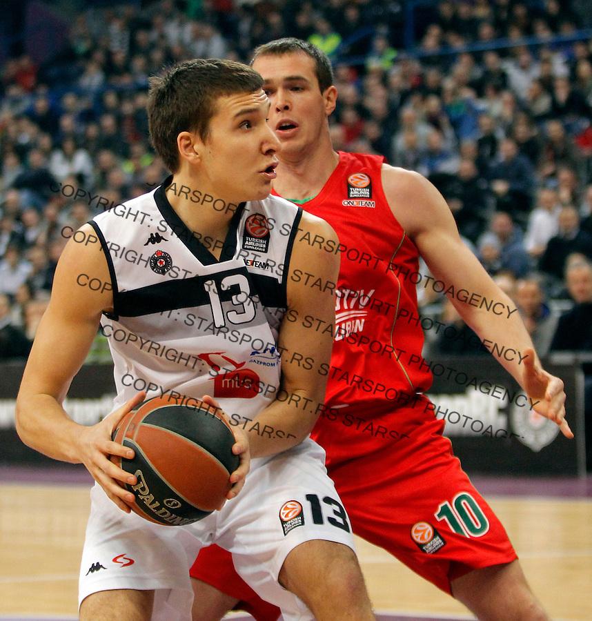 Bogdan Bogdanovic Euroleague, Evroliga, Partizan - Lokomotiv Kuban Januar 31, 2014. in Belgrade, Serbia (credit image & photo: Pedja Milosavljevic / STARSPORT / +318 64 1260 959 / thepedja@gmail.com)