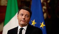 20161205 ROMA-POLITICA: RENZI ANNUNCIA LE DIMISSIONI DOPO LA SCONFITTA NEL REFERENDUM COSTITUZIONALE