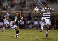 The number 5 ranked Charlotte 49ers play the University of South Carolina Gamecocks at Transamerica field in Charlotte.  Charlotte won 3-2 in the second overtime.  Asa Kryst (7), Biko Bradnock-Brennan (4)