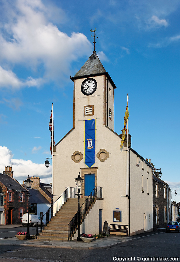 Lauder Tolbooth or Town Hall, which predates 1598 Scottish Borders, Scotland