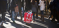 Shoppers on Fifth Avenue in New York on Friday, December 13, 2013 during the Christmas shopping season. There are only twelve more days until Christmas!(© Richard B. Levine)