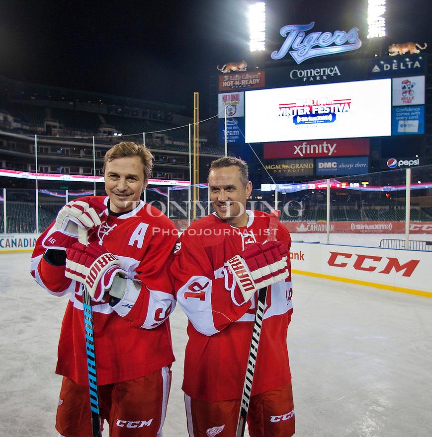 Maple Leafs v Red Wings Alumni Showdown
