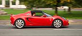 Red Lotus Elise sportscar in London.