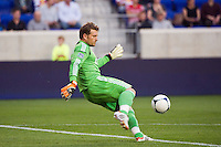 CD Chivas USA goalkeeper Dan Kennedy (1). The New York Red Bulls and CD Chivas USA played to a 1-1 tie during a Major League Soccer (MLS) match at Red Bull Arena in Harrison, NJ, on May 23, 2012.