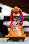 19 November 2005: Arend Glas pilots the Netherlands 1 sled to a 22nd place finish at the 2005 FIBT AIT World Cup Men's 2-Man Bobsleigh Tour at the Verizon Sports Complex, in Lake Placid, NY. Mandatory Photo Credit: Ed Wolfstein.