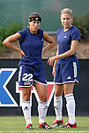 19 July 2003: Allie Kemp-Sullivan (22) and Kerry Connors. The Carolina Courage defeated the San Diego Spirit 1-0 at SAS Stadium in Cary, NC in a regular season WUSA game.