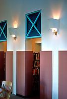 Michael Graves: San Juan Capistrano Library. Reading Room detail.  Photo '86.