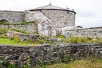 Norway, Stjørdal. Steinvikholm Castle in the Trondheimsfjord.