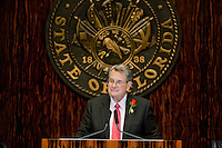 TALLAHASSEE, FLA. 3/5/13-OPENING030513CH-Senate President Don Gaetz, R-Niceville, during the opening day of the 2013 legislative session Tuesday at the Capitol in Tallahassee, Fla..COLIN HACKLEY PHOTO