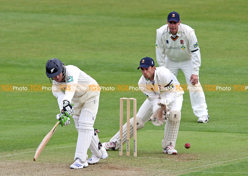 James Marshall of New Zealand in batting action watched by wicket keeper James Foster of Essex and Jason Gallian - Essex CCC vs New Zealand - Tourist Match at Ford County Ground, Essex - 02/05/08 - MANDATORY CREDIT: Gavin Ellis/TGSPHOTO - Self billing applies where appropriate - Tel: 0845 094 6026