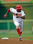 12 July 2008: Washington Nationals' utilityman Willie Harris in action against the Houston Astros at Nationals Park in Washington, DC. The Astros defeated the Nationals 6-4 in the second game of their 3-game series...Mandatory Photo Credit: Ed Wolfstein Photo