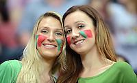 FUSSBALL  EUROPAMEISTERSCHAFT 2012   VIERTELFINALE Tschechien - Portugal              21.06.2012 Portugiesische Fussballfans