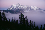 Mt. Shuksan surrounded by fog, North Cascades National Park, Washington, USA
