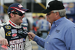 Lowes 50th 600 Jim Dedmon - Dale Jr. and car owner Rick Hendrick prior to start of Lowes 50th Anniversary 600 mile race