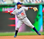 25 April 2010: Los Angeles Dodgers' shortstop Rafael Furcal in action against the Washington Nationals at Nationals Park in Washington, DC. The Nationals shut out the Dodgers 1-0 to take the rubber match of their 3-game series. Mandatory Credit: Ed Wolfstein Photo