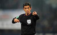 FUSSBALL   1. BUNDESLIGA   SAISON 2012/2013    18. SPIELTAG FC Schalke 04 - Hannover 96                           18.01.2013 Schiedsrichter Deniz Aytekin