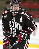 Mark Hourihan (Brown - 12) - The visiting Brown University Bears defeated the Harvard University Crimson 2-0 on Saturday, February 22, 2014 at the Bright-Landry Hockey Center in Cambridge, Massachusetts.