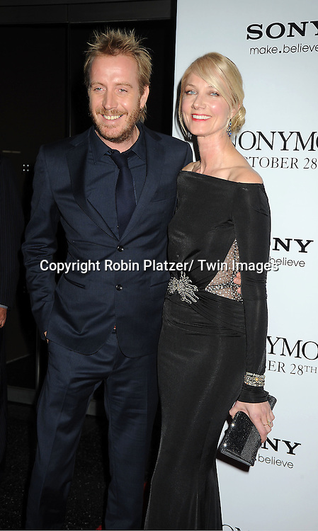 "actor Rhys Ifans and Joely Richardson attends the New York Special Screening of "" Anonymous"" .on October 20, 2011 at The Museum of Modern Art in New York City."