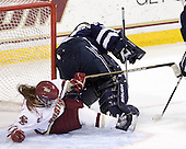 Danielle Welch (BC - 17), Kayley Herman (UNH - 31) - The Boston College Eagles and the visiting University of New Hampshire Wildcats played to a scoreless tie in BC's senior game on Saturday, February 19, 2011, at Conte Forum in Chestnut Hill, Massachusetts.
