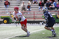 College Park, MD - April 8, 2017: Maryland Terrapins Jared Bernhardt (10) in action during game between Penn State and Maryland at  Capital One Field at Maryland Stadium in College Park, MD.  (Photo by Elliott Brown/Media Images International)