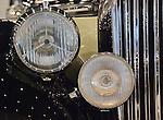 Headlights on a Vintage Classic Car